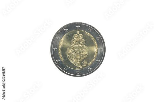 Photo  Commemorative 2 euro coin of Portugal