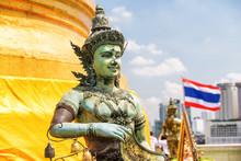 Buddhist Statue At Wat Saket T...