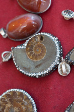 Natural Mineral Gemstones As A Necklace