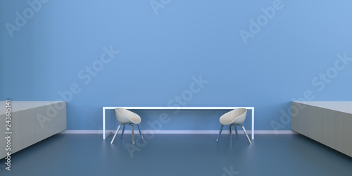 Office relaxation Concierge Office Relaxation Simple And Modern With Blue Monotones Concept And Display Adobe Stock Office Relaxation Simple And Modern With Blue Monotones Concept