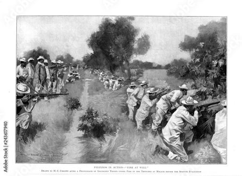 Spanish-American War Wallpaper Mural