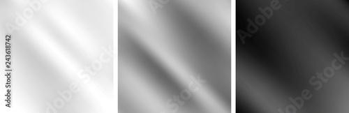 Carta da parati Grey metallic monochrome smooth gradient backgrounds