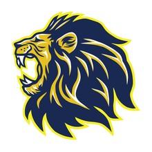 Wild Lion Roaring Head Mascot