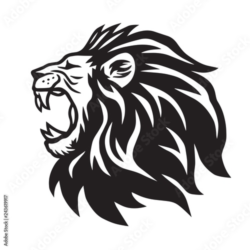Fototapety, obrazy: Lion Roaring Vector Icon Logo Template