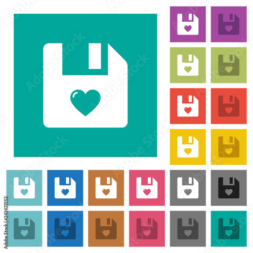 Fotografie, Obraz  Favorite file square flat multi colored icons