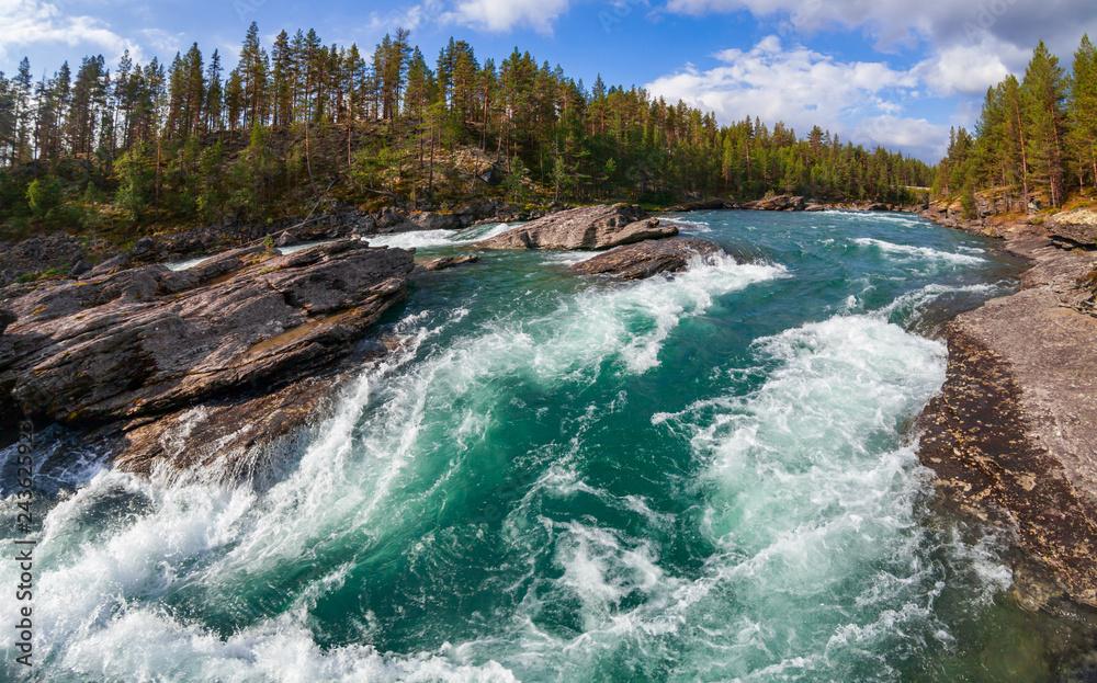 Fototapeta Sjoa river rapids Oppland Norway Scandinavia