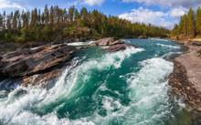 Sjoa River Rapids Oppland Norw...