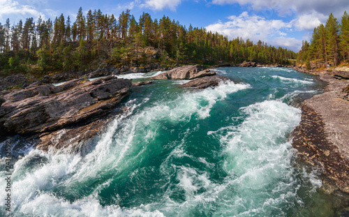 Foto Sjoa river rapids Oppland Norway Scandinavia