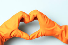 Hands In Rubber Gloves In The ...