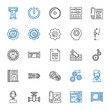 technical icons set