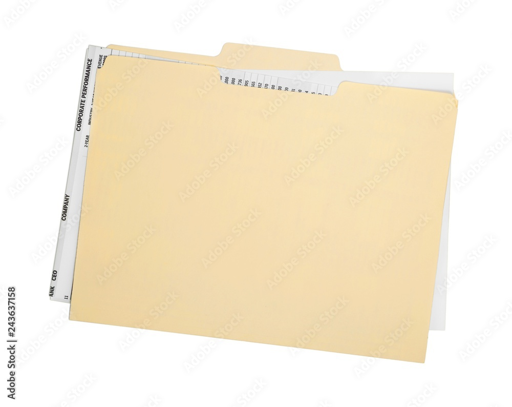Fototapeta File Folder with Documents
