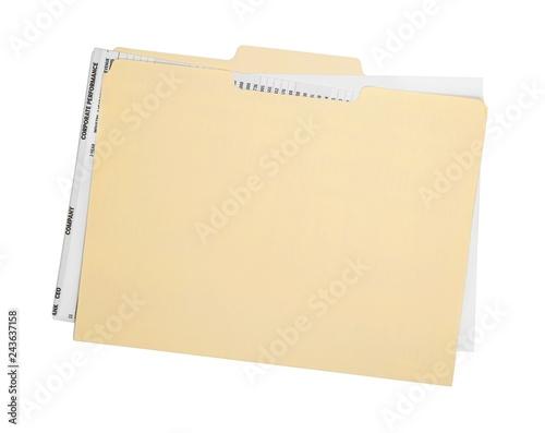 Fotografía  File Folder with Documents