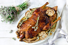 Baked Duck With Garlic And Veg...