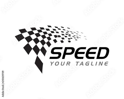 Foto Race flag icon design