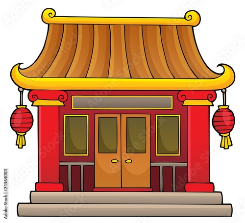 Tuinposter Voor kinderen Chinese temple theme image 1
