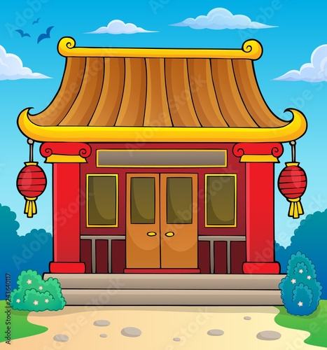 Tuinposter Voor kinderen Chinese temple theme image 2