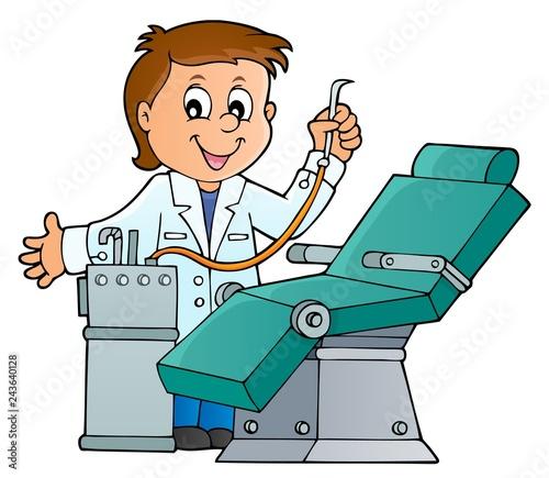 Staande foto Voor kinderen Dentist theme image 1
