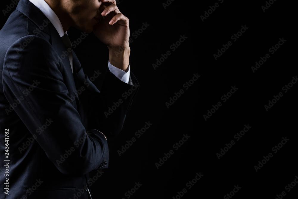 Fototapeta 悩んでいるビジネスマン