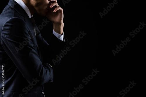 Obraz 悩んでいるビジネスマン - fototapety do salonu