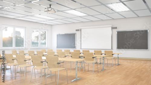 Fotografía Classroom interior. 3D illustration.