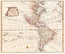 Map Of North America And South...