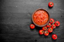 Tomato Sauce In Bowl.
