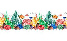 Underwater Creatures Seamless ...