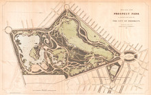 1868, Vaux And Olmstead Map Of...