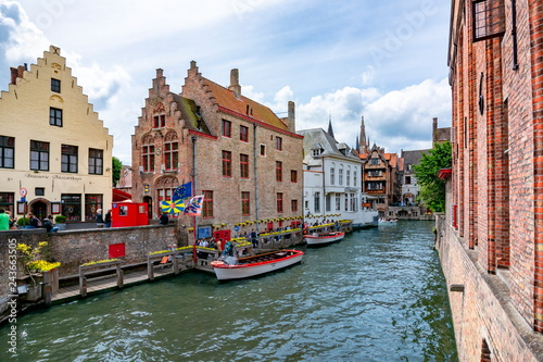 Poster Bridges Bruges canals and architecture