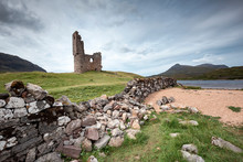United Kingdom, Scotland, Sutherland, Ardvreck Castle At Loch Assynt