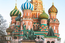 Russia, Moscow, St Basil's Cathedral In The Red Square