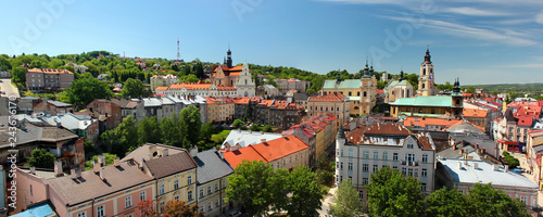 Obraz Old Town of Przemysl, Poland. Panorama from the Clock Tower. - fototapety do salonu