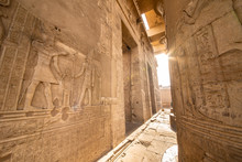 Entrance To The Temple Of Kom Ombo Built By The Ancient Egyptian Civilization Near Thebes (Luxor) And Aswan