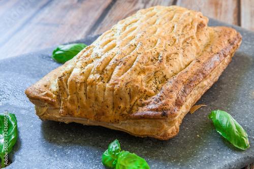 Fresh salmon pastry Canvas-taulu