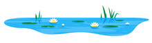 Small Blue Decorative Pond Wit...