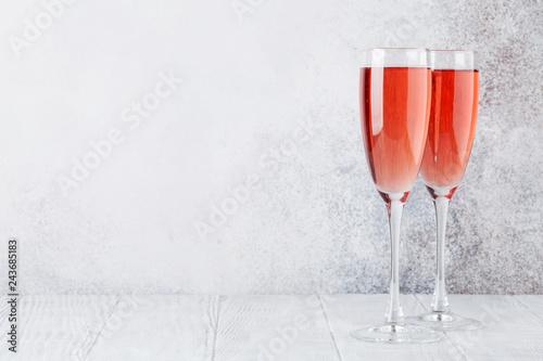 Rose champagne glasses