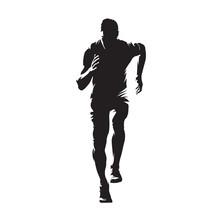 Running Man, Isolated Vector S...