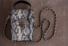Women's Bag From Snake Skin. O...