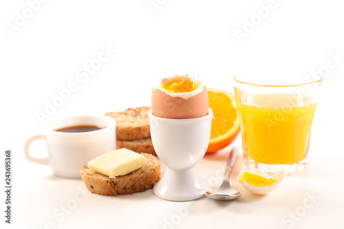 Fototapeta healthy breakfast on white background obraz