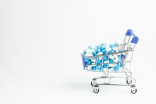 Drug Store Vitamin Medicine Capsule Cart Shopping Health