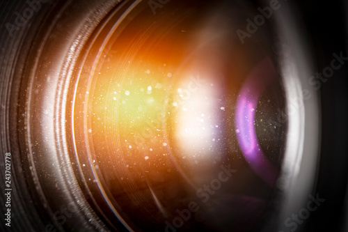 flare lens camera background macro light flash real bright film focus performanc Canvas-taulu