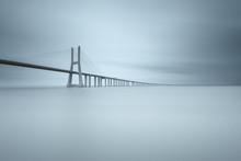 View Of Vasco Da Gama Bridge Over Tagus River