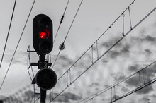 Traffic Light, Catenary And Tr...