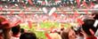 Leinwanddruck Bild - Begeisterte Fußball-Fans im Stadion | XXL Panorama