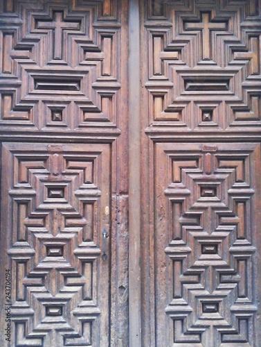 Fotografie, Obraz  Puerta de madera