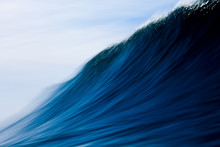 Close Up Of An Ocean Wave In P...