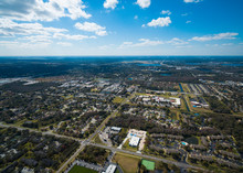 Aerial View Of East Orlando Fl...