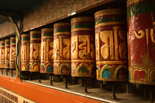 Prayer Wheels Tibetan Prayer M...