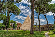 Pyramid Of Cestius In Rome