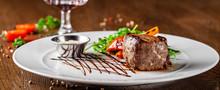 Georgian Cuisine. Juicy Beef S...